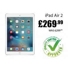 Refurbished Apple iPad Air 2 16GB Wifi now only £269.99